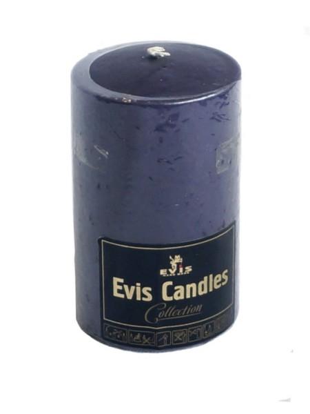 Свеча парафин цилиндр 70 Н-120 мм цвет баклажан