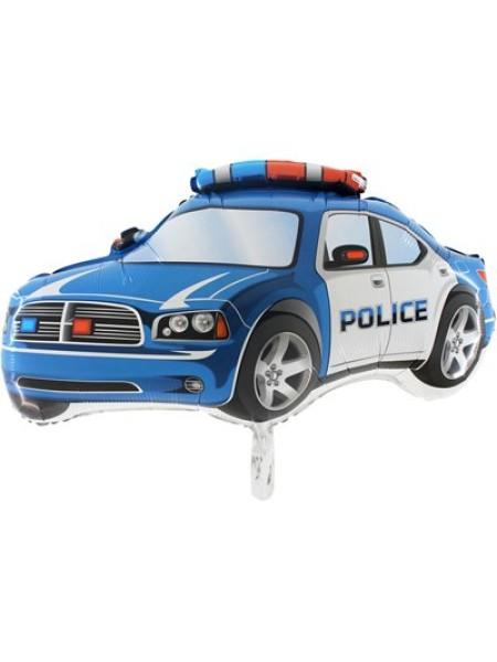 Фольга шар Машина Полиция Grabo