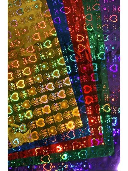 Пленка голография 100/061 сердца королевские 100 х 70 см