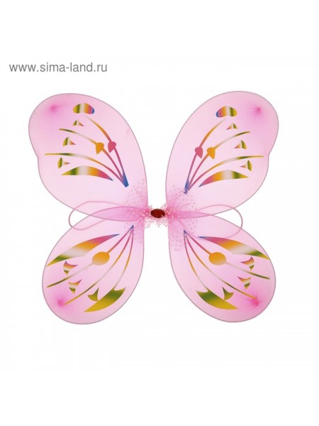 Крылья Бабочка с узорами цвет фуксия