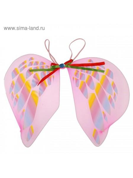 Крылья Ангел с узорами цвет розовый
