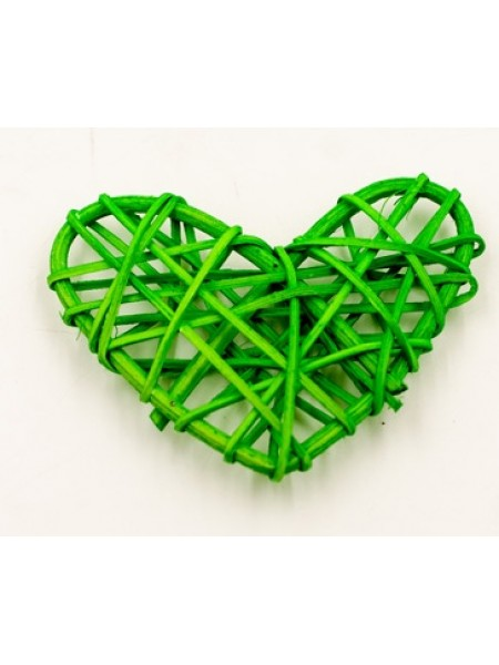 Сердце ротанг 7 х 8 см цвет зеленый 1/5 шт