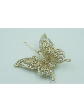Бабочка/Стрекоза 12см пластик розовое золото CJ1703CSPGL1G