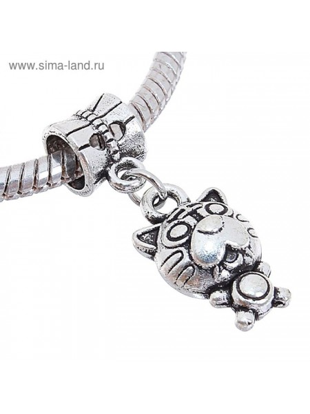 Подвеска Тигр цвет серебро  2 см × 0,6 см × 0,7 см