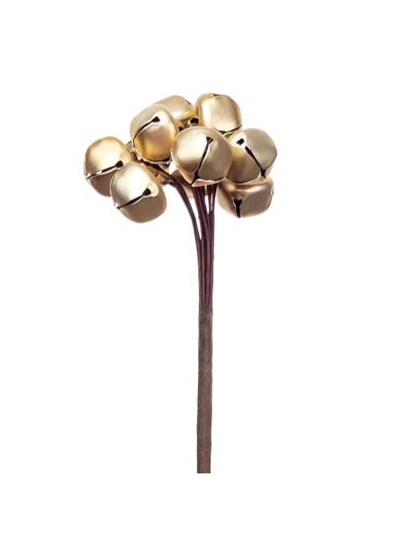 Колокольчики на вставках набор10 шт 1,5 х Н9 см цвет золото KFS6-967A-1
