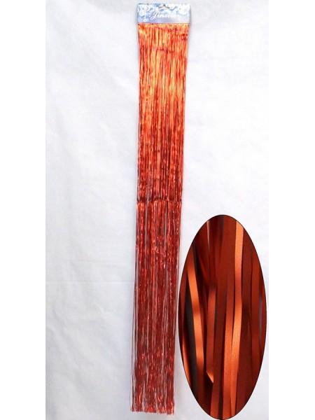 Дождик сатин мелкий 13 х 100 см цвет красный  HS-18-11