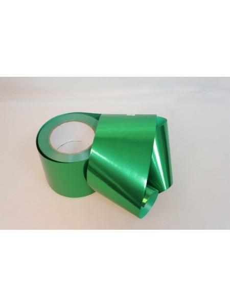 Лента металл 10 см х 50 ярд цвет зеленый М1049