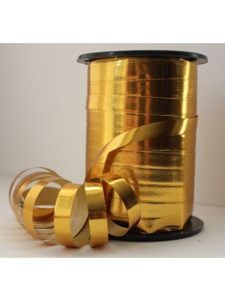 Лента металл 1 см х 100 ярд цвет золото М199