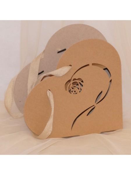Коробка - сумка сборная Сердце 23 см