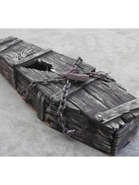 Гроб с цепями 150 х 55 х 25 см пеноплат/пластик Хэллоуин HS-4-42