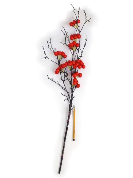 Боярышник ягода на ветке 80 см цвет красный HS- 33-3