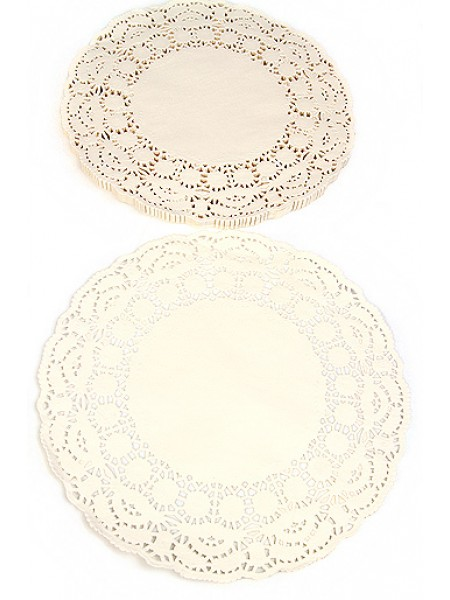 Салфетки ажурные 56/00 d 20 см круглые белые набор 250 шт