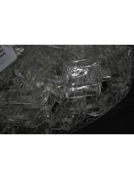Наполнитель для флористики Армани упаковка 60 шт стекло цвет бесцветный H-40 D-32 мм