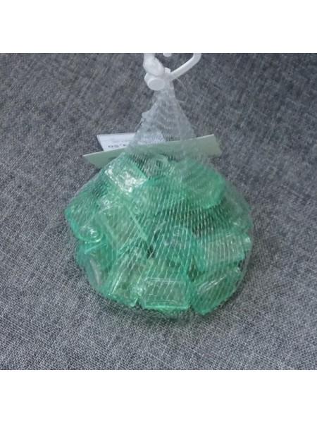 Наполнитель для флористики Рамка упаковка 30 шт стекло цвет зеленый