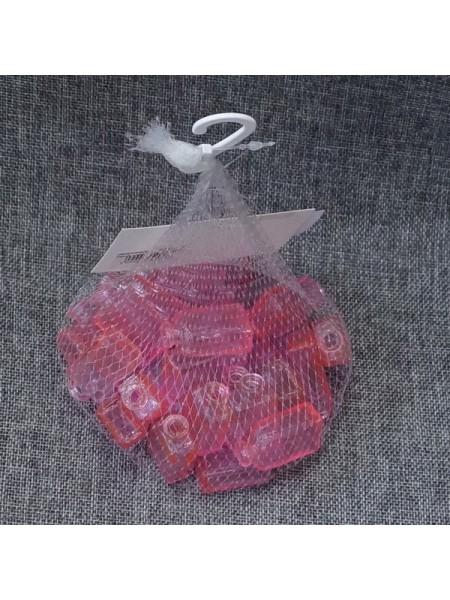 Наполнитель для флористики Рамка упаковка 30 шт стекло цвет розовый