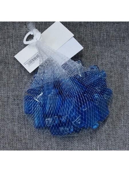 Наполнитель для флористики Рамка упаковка 30 шт стекло цвет синий