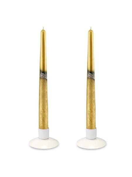 Свеча античная Блэк набор 2 шт позолоченная