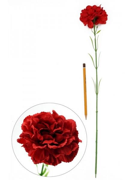 Гвоздика красная 54см