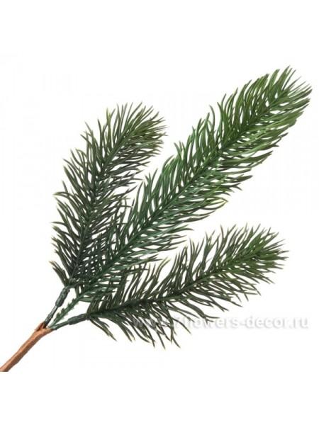 Ветка еловая искусственная 30 см цвет Зелёный Арт НСР 9852