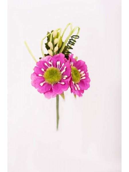Букет на вставке 13х8х4,5 см цвет Фуксия