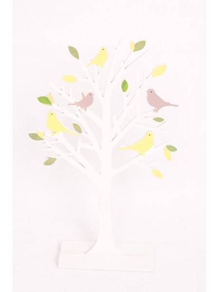 Дерево декоративное h 35 х h 22 х 5 см цвет Белый-зеленый материал дерево