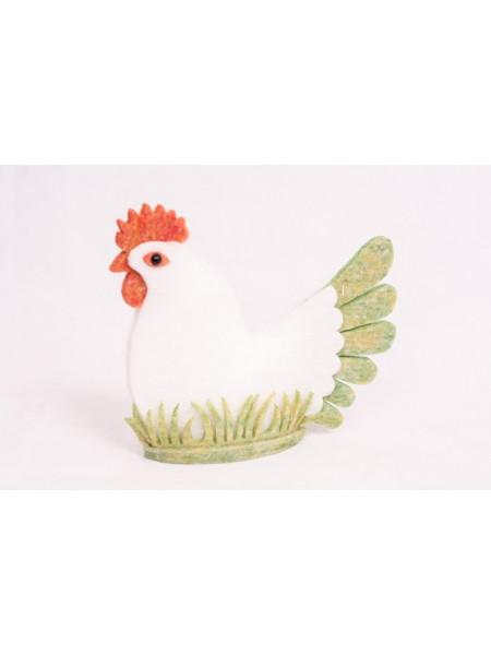 Курица фетр h 25 х 20 х 3 см цвет белый