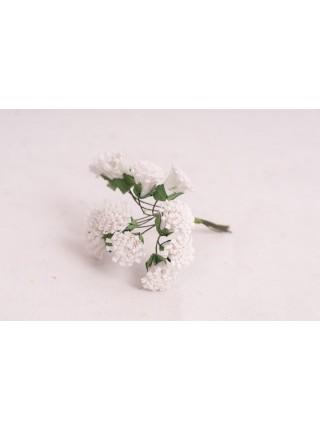 Декор для творчества Кудрявый пион 1 набор=1 букет в букете 12 цветков