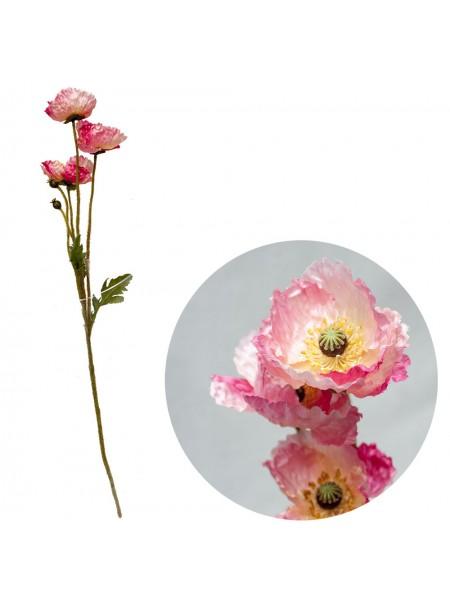 Мак 63,5см цветок искусственный цв Розовый