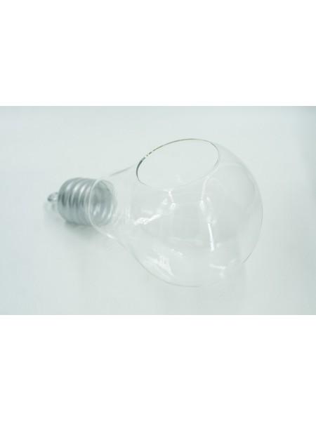 Лампочка с подвесом стекло 26*15см