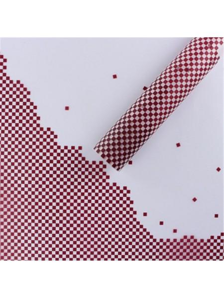 Пленка матовая Пиксели 60 х 60 см набор 20 листов цвет винный