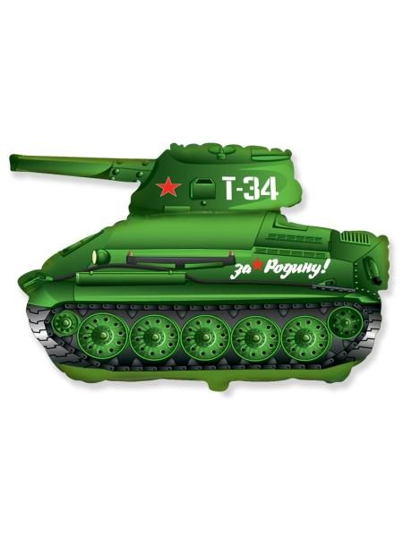 """Фольга шар Танк Т-34 зеленый 31""""/79 см 1шт Испания"""