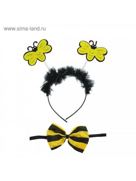 Набор карнавальный Пчелка 2 предмета ободок бабочка