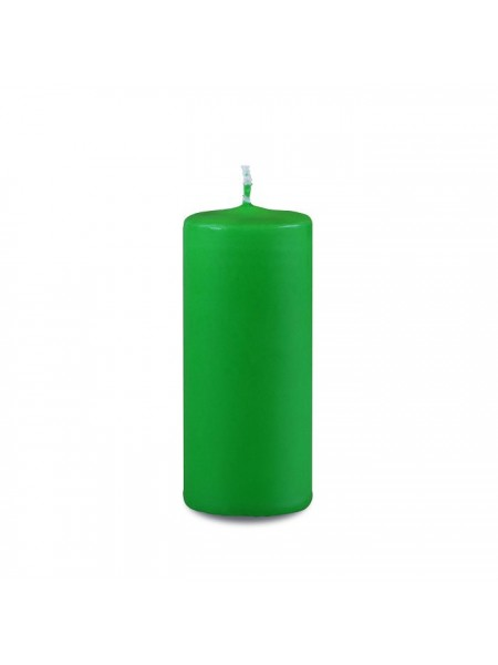 Пеньковая 40 х 90 зеленая свеча