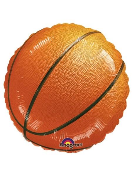 """Фольга шар Круг 18""""/46 см Баскетбольный мяч оранжевый Анаграмм"""