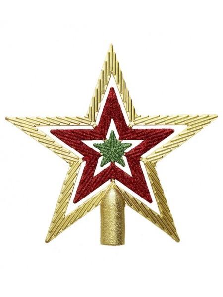 Верхушка на елку Звезда 20 х 19 х 2 см полистирол цвет радужный арт. 86454 Новый год