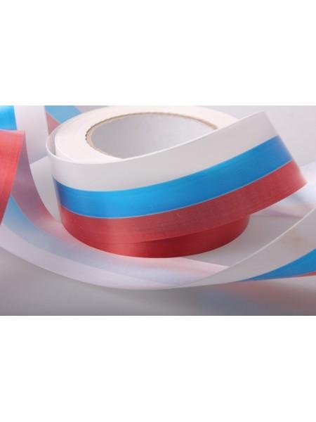 Лента простая 5см х 50м Российский флаг