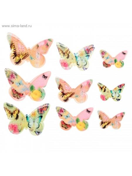 Набор декоративных бабочек Мечта 18 шт (5,5*3,5см, 7,5*5,5см, 9,5*6см)