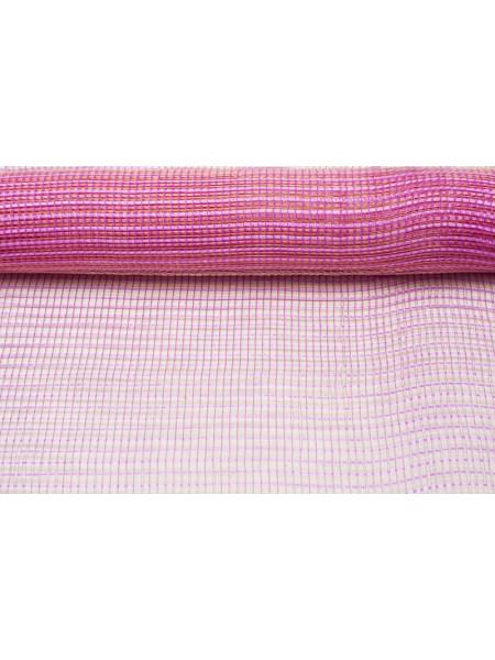 Сетка акцент  53см*8м пластик Розовый