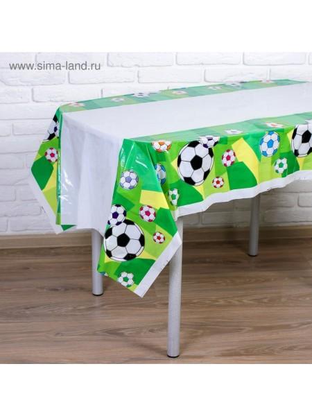 Скатерть полиэтилен Футбол 108 х 180 см