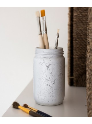 Краска спрей Siana Craquelure матовая набор 2 шт 520 мл цвет белый-серебро Арт. NSNC005