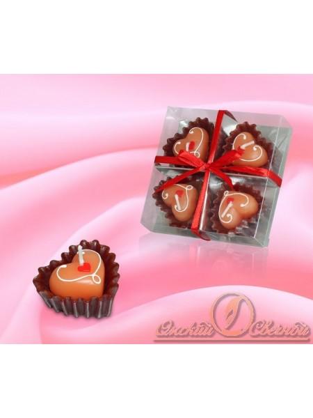 Сердечки-конфетки набор свечей