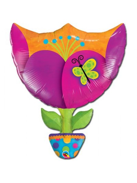 "Фольга шар фигура 6 Тюльпан 35""/89 см"