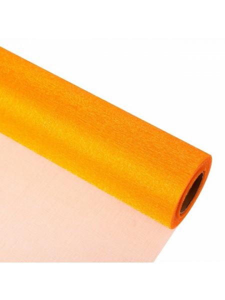 Органза-снег 70 см х 9 м цвет оранжевый