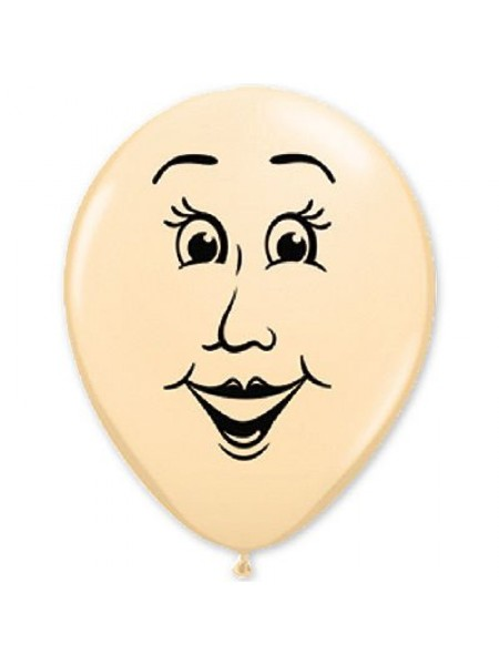 """16""""шар с рисунком Лицо женское,шар воздушный"""