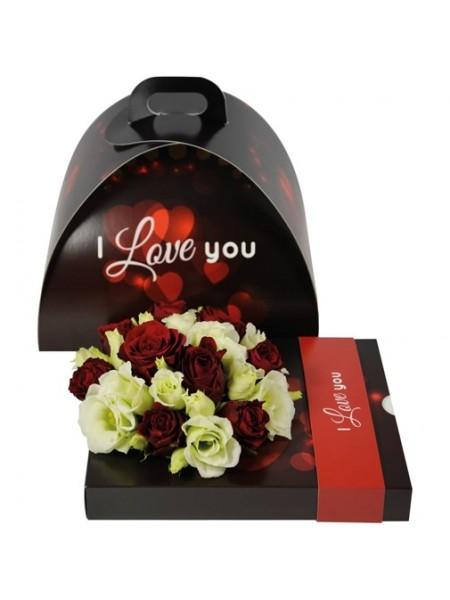 Коробка подарочная в комплекте с контейнером I LOVE YOU