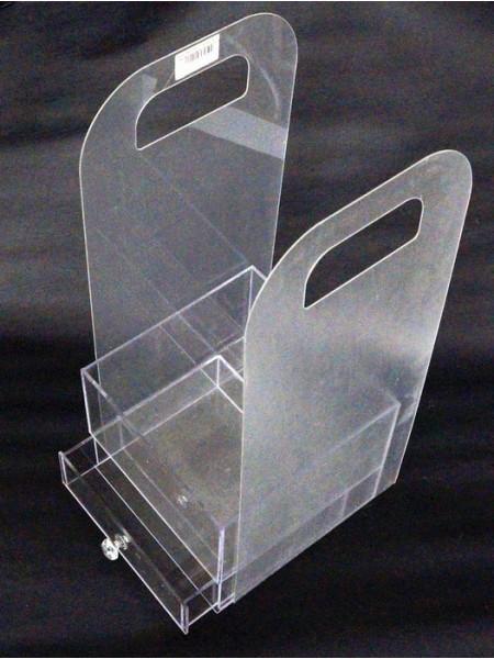 Акриловый бокс-сумка для цветов с выдвижн.ящиком 40 х 18 х 11 см