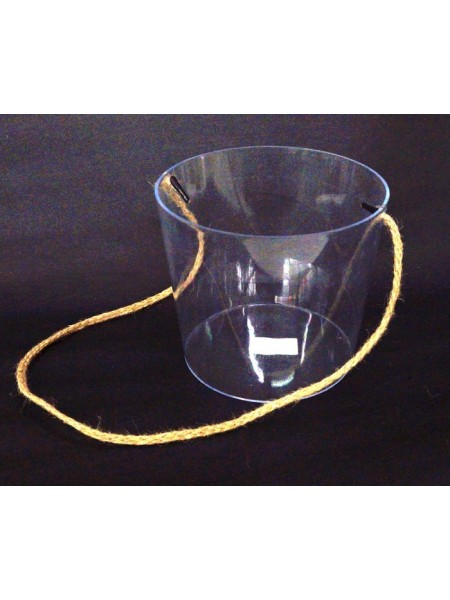 Акриловый бокс для цветов цилиндр  12 х 14 х 11,5 см