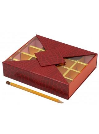 Коробка для конфет на 20 шт 16 х 20 х 4 см цвет микс  HS-7-27