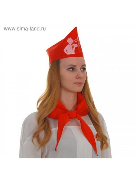 Набор пионера Всегда готов 5 предметов - галстук пилотка значок устав удостоверение