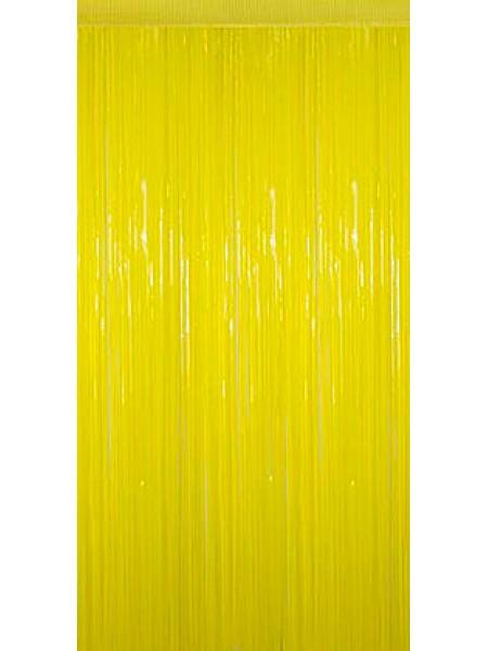 Занавес полиэтилен h=2 м w= 1 м на скотче цвет прозрачный желтый HS-34-5